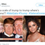Stop taking tan advice from Trump, Selena. (Photo: Twitter)