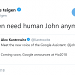 Chrissy proving in just one tweet why she should've been the new Google Assistant voice. (Photo: Twitter)