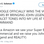 Your Rebel Wilson is NOTHING compared to John Legend, Amazon. (Photo: Twitter)