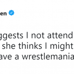 But why is she saying it like that's a bad thing?! (Photo: Twitter)