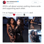 First it was Katy and Taylor and now Normani and Camila. 2018 truly is all about women putting drama aside. (Photo: Twitter)