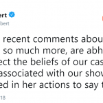 """Roseanne"" star and executive producer Sara Gilbert spoke out in the wake of Barr's racist-social media tirade. (Photo: Twitter)"