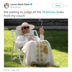 Prepare to receive some style tips from The Young Pope. (Photo: Twitter)