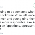 With great following comes great responsibility, Kimberly. (Photo: Twitter)