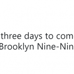 If that doesn't tell you what a good show B99 is—then I don't know what does! (Photo: Twitter)
