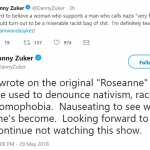 "Ex-""Roseanne"" writer Danny Zuker said it was ""nauseating"" to see what Barr had become. (Photo: Twitter)"