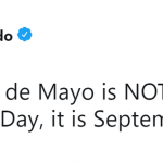 I repeat, it is NOT Mexico's Independence Day. (Photo: Twitter)