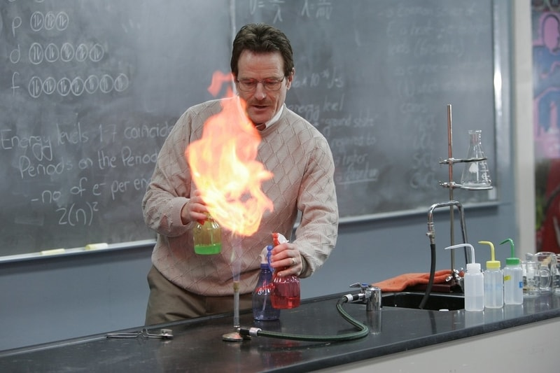 Sure, his lectures were a little dull (and he did become a drug lord), but no one could ever accuse Mr. White of not knowing his craft. He even turned a former flunky student into a chemistry master. Yes, science! (Photo: Release)