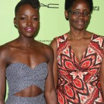 Lupita Nyong'o and her mom Dorothy Nyong'o arriving at the 2014 Women in Film pre-Oscar party hosted by MAC Cosmetics. (Photo: WENN)