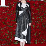 Cate showed up at the Tony Awards 2016 in an edgy and unconventional black and white, color-blocked, and mixed materials dress with a slanted hem by Louis Vuitton. (Photo: WENN)
