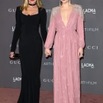 Dakota Johnson and her mom actress Melanie Griffith at the red carpet of the 2017 LACMA Art and Film Gala. (Photo: WENN)