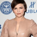 """Goodwin wore a slightly lighter pixie cut with long straight side bangs at the photo op for Hulu's """"Obey Giant."""" (Photo: WENN)"""