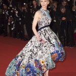"The actress hit the red carpet of the ""Cold War"" premiere in Cannes wearing an eye-catching voluminous gown by Mary Katrantzou, inspired by nostalgic childhood pastimes. (Photo: WENN)"