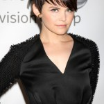 Ginnifer Goodwin added texture to her look with long side swept fringes at the Disney ABC summer press tour. (Photo: WENN)