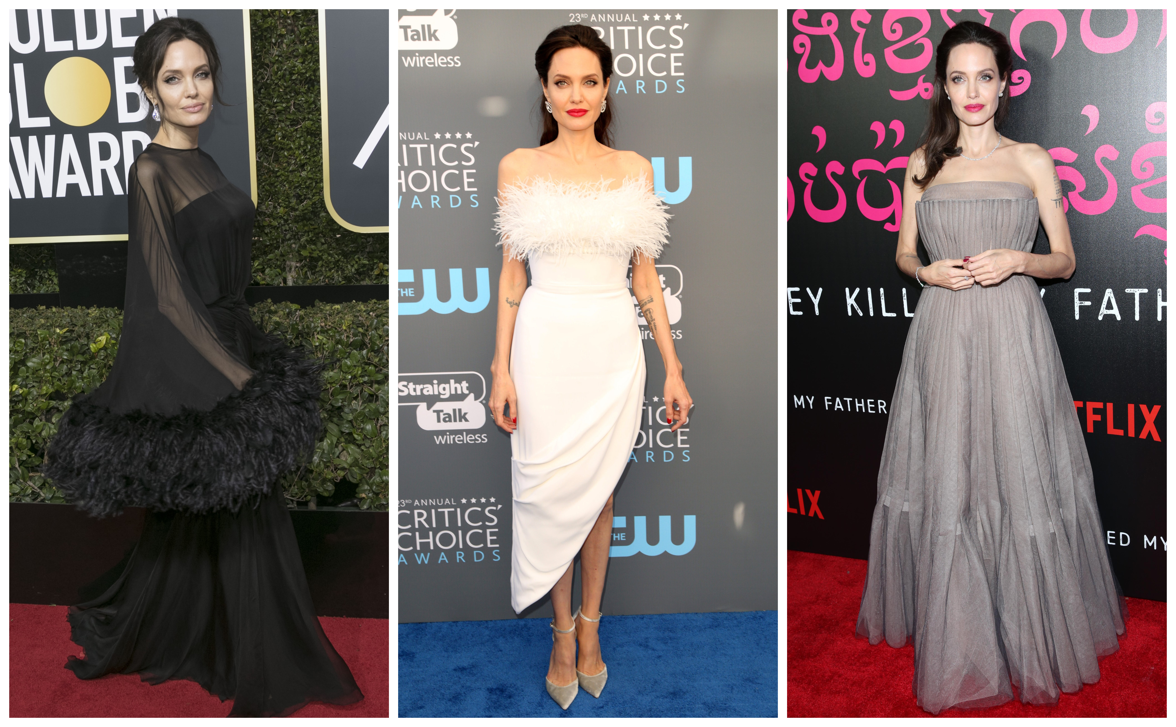 Angelina Jolie may no longer reign in Brad Pitt's heart, but there's no doubt she's still the Queen of neutrals. (Photos: WEN)