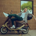 """Macklemore truly is an avid thrifter. However, that's not to say the rapper won't splurge from time to time. He was a bit ashamed to admit he paid $600 for a pair of black and gold loafers. """"My fans are going to hate me now,"""" he joked. (Photo: Instagram)"""
