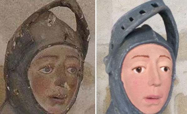 Click through our photo gallery to see the best reactions to poor St. George's grievous restoration gone wrong. (Photo: Release)