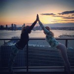 They say friends that do yoga together say together, and Cara Delevingne and Suki Waterhouse know it! (Photo: Instagram)