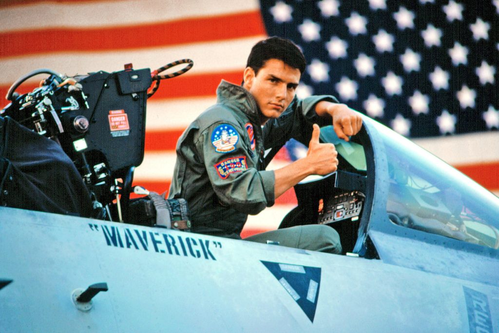 "Wee feel the need: the need for a sequel! Early Thursday morning, Tom Cruise posted a photo of himself as Navy pilot Maverick looking at his aircraft, captioning it ""Day 1,"" which teases the first day of filming of the anticipated movie. (Photo: WENN)"