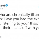 Hyland often shares her health struggles on Twitter. (Photo: Twitter)