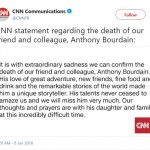 CNN confirmed the dead of Anthony Bourdain via a statement posted to their social media accounts. (Photo: Twitter)