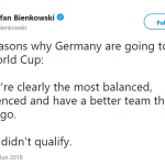 But mostly because Italy didn't qualify. (Photo: Twitter)
