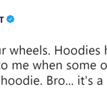 Then why did you charge me $200 for a hoddie, Kanye? (Photo: Twitter)