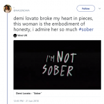 Demi Lovato is the epitome of honesty. (Photo: Twitter)