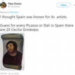 Picasso has nothing on these amateur Spanish artists. (Photo: Twitter)
