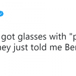We didn't need the glasses to know this :-( (Photo: Twitter)
