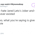 We specifically said we hated Leto's Joker. What part wasn't clear about that? (Photo: Twitter)