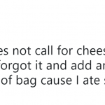 Y'all know cheese goes with everything. (Photo: Twitter)