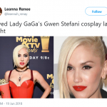 Lady Gaga's cosplay was on point. (Photo: Twitter)