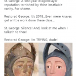 Don't be such a snob, original St. George! (Photo: Twitter)