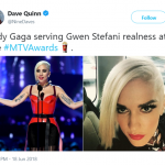 We see what you did there, Gaga. (Photo: Twitter)