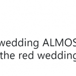"The ""Red Wedding"" was brutal. Good to see happiness! (Photo: Twitter)"