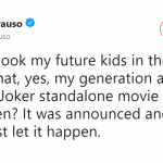 I guess this new Joker movie means I'm not having children. (Photo: Twitter)