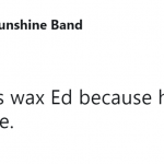 Ed's wax figure is a better Ed than Ed. (Photo: Twitter)