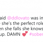 There's no such thing as a perfect role model and that's why we love Demi. (Photo: Twitter)