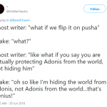 It was the ghost writer's idea. (Photo: Twitter)