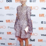 The Dior daring attended the 4th annual TIFF kick-off fundraising soiree wearing an embellished lilac floral dress by the French House. (Photo: WENN)