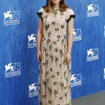 "Portman showcased a sweet floral, full-length dress by Valentino at the photo call for ""Jackie"", in the 2016 Venice Film Festival. (Photo: WENN)"