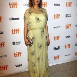 "The actress looked elegant in an embellished sheer lime-green gown by Prada at the TIFF premiere of ""Jackie."" (Photo: WENN)"