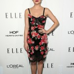 Lucy Hale looked blooming in a lovely slip lace and tulle dress with floral embellishment by Marchesa at the 2016 ELLE Women in Hollywood Awards. (Photo: WENN)