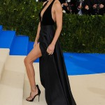 Lima hit the 2017 Met Gala red carpet wearing an elegant Alberta Ferretti halter black gown complete with a deep neckline and high slit. (Photo: WENN)