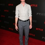 "The Netflix star kept it casual at the NYC event of ""A Series of Unfortunate Events"" with a white patterned shirt with rolled up sleeves and grey pants. (Photo: WENN)"