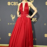 The Big Little Lies star was one of the best dressed at the Emmys 2017 red carpet wearing an ankle-length halter plunging dress by Calvin Klein. (Photo: WENN)
