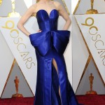 The actress brought her A-game at the 2018 Academy Awards red carpet in a stunning royal blue strapless gown from Armani with a giant bow at the waist. (Photo: WENN)