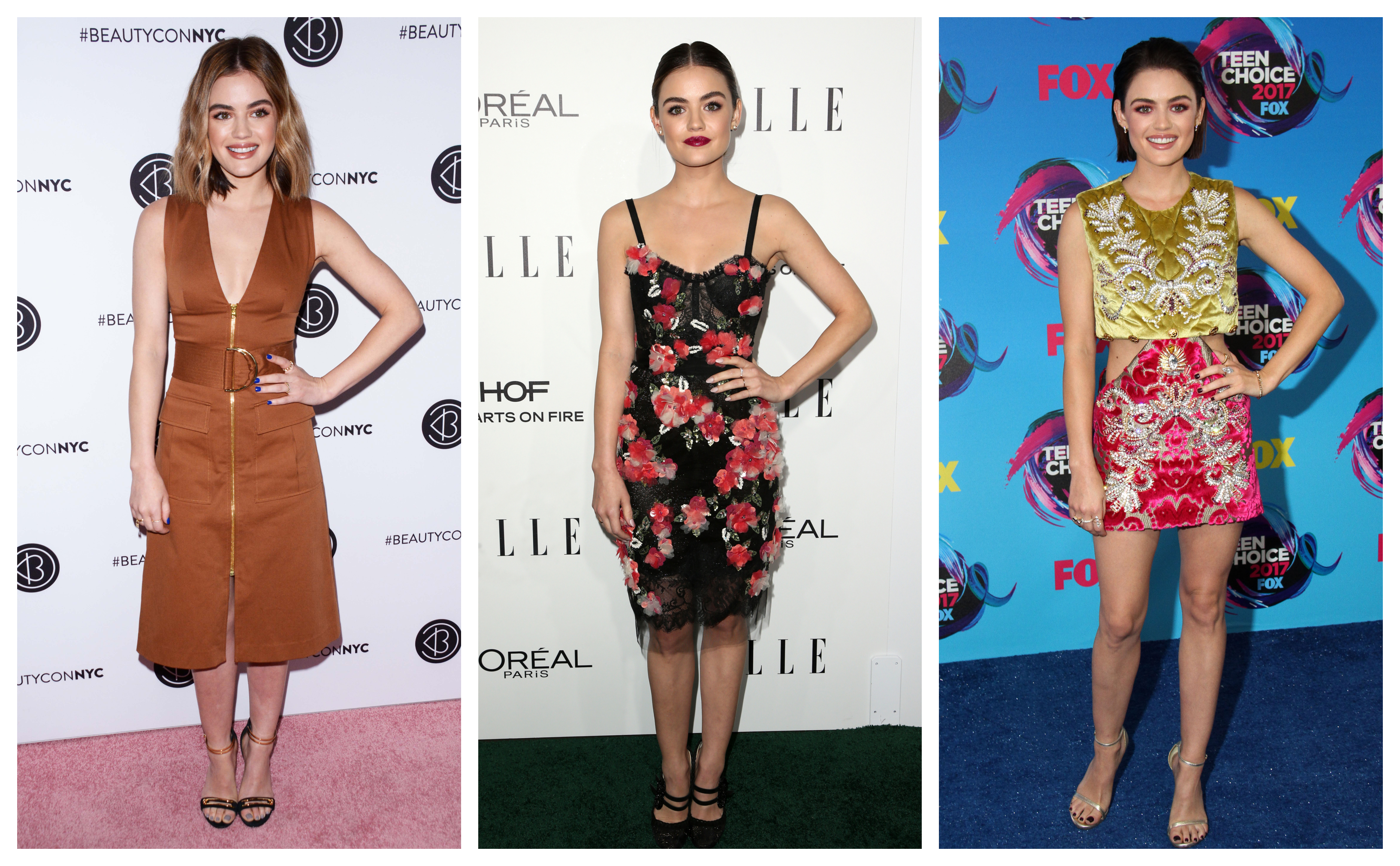 Aria Montogmery's wardrobe has nothing on Lucy Hale's! Celebrating the actress' 29th birthday, let's check out some of or her top fashion moments in our photo gallery. (Photo: WENN)