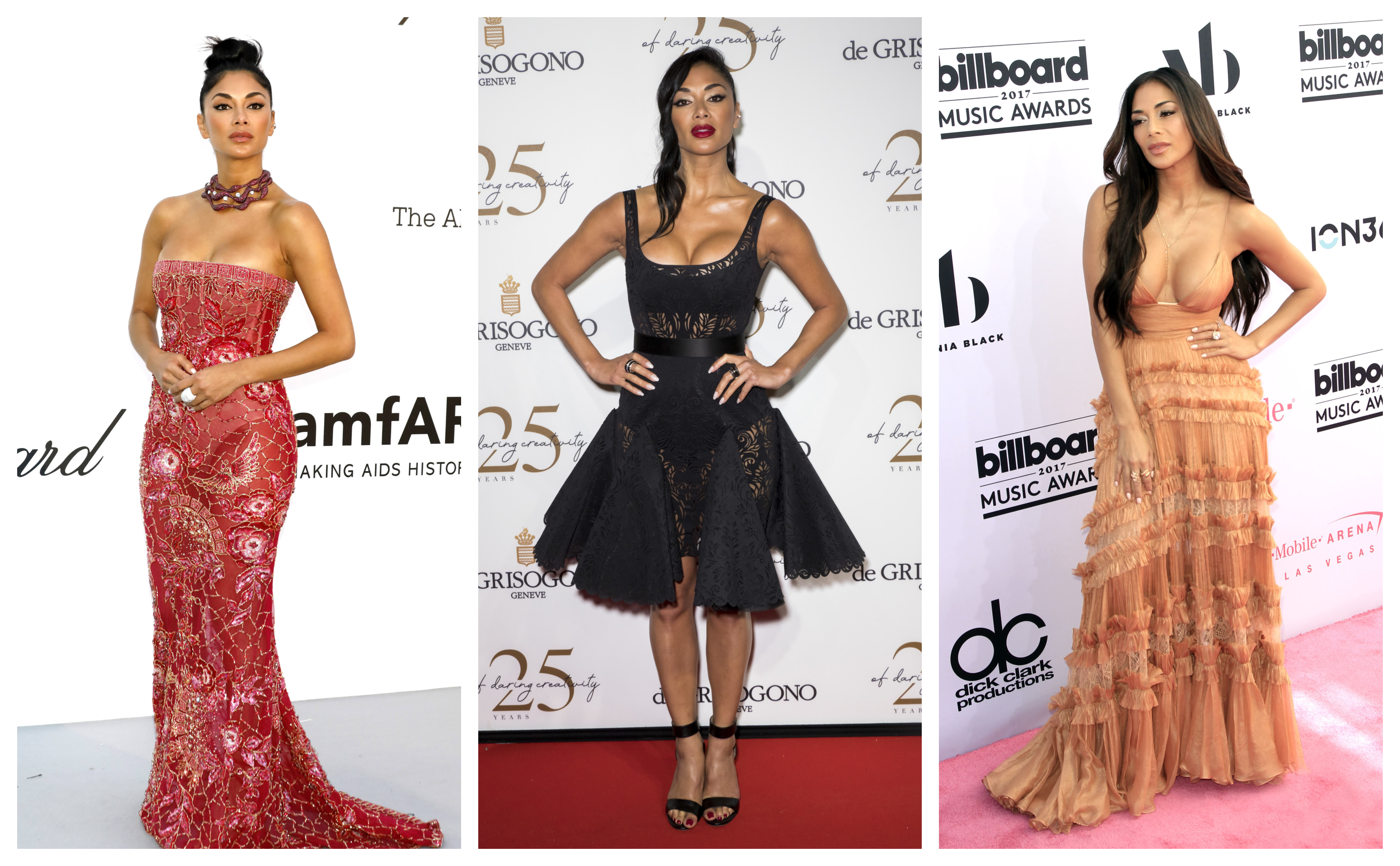 Celebrating her 40th birthday (and her shocking fashion transformation while we're at it), let's take a look back at some of Nicole Scherzinger's best fashion moment on the red carpet. (Photo: WENN)